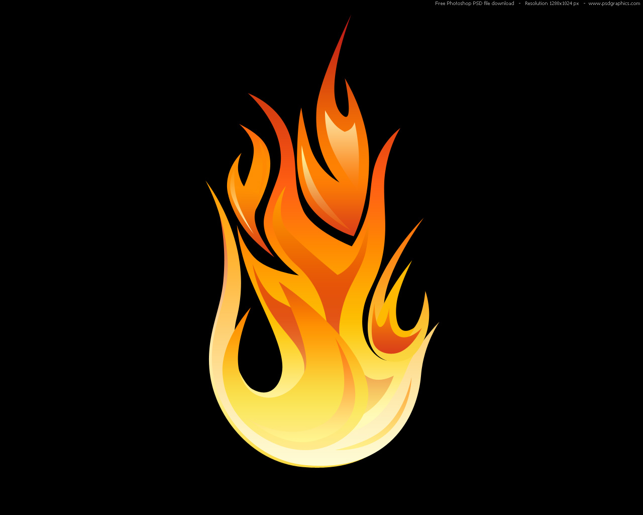 TODO VECTOR: PSD flame icon
