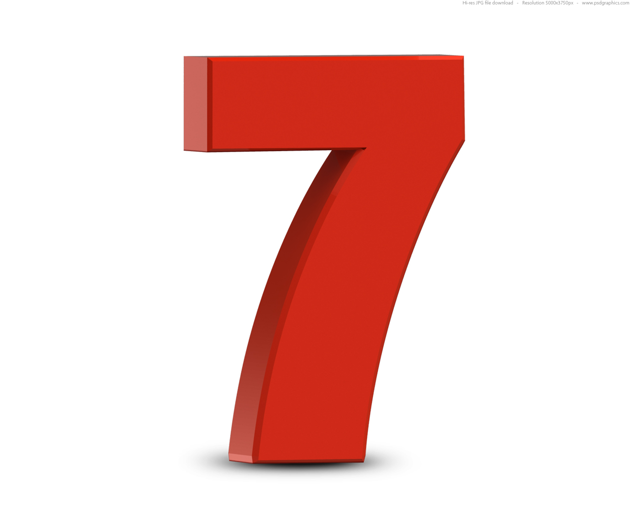 Red 3d Numbers Set